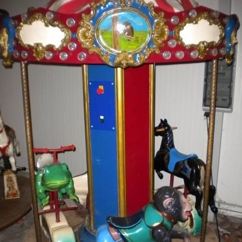 Kinder Karussell Nostalgiekarussell mit 4 Sitzplätzen