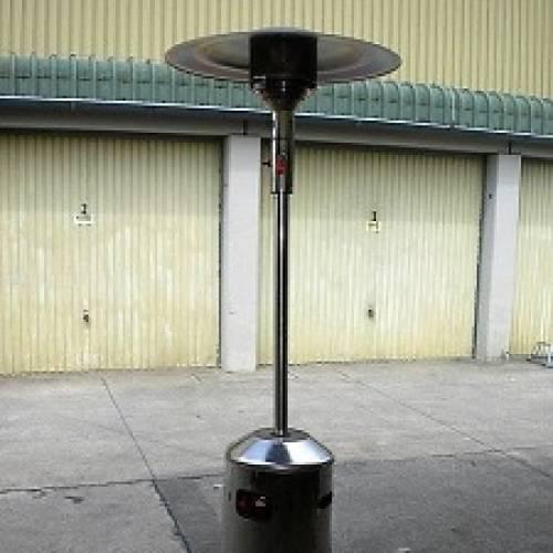 Terrassenstrahler / Heizpilz mit Reflektor